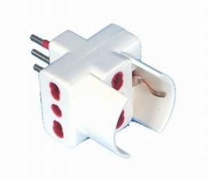 Spina elettrica adattatore tripla schuko 10A (Cod.:1217)