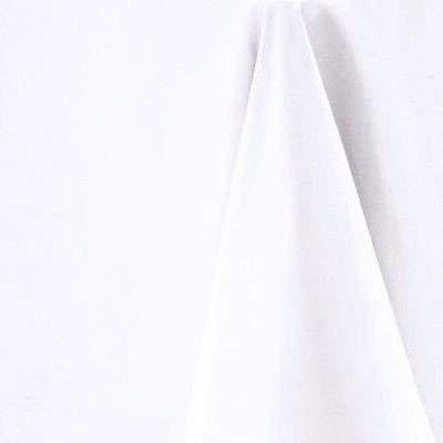 Blanc Doux Toucher Coton Nappe Ronde 178 cm de diamètre