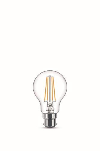 Philips Lampadina LED Goccia Filamento, 2 Pezzi, Equivalente a 60W, Attacco E27, Luce Bianca Calda, non Dimmerabile