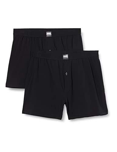 PUMA Mens Loose Jersey Boxer Briefs, Black, L