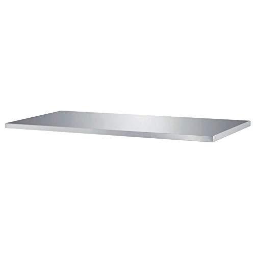 Piano da Lavoro Tutte Le Misure - profondità 70cm - Top per Tavolo in Acciaio Professionale Cucina (100x70x4h)