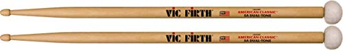 Vic Firth American Classic® Series Drumsticks - 5ADT Dual Tone - Wood Tip and Synthetic Felt Ball