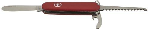 Victorinox Taschenmesser My First Victorinox H (9 Funktionen, Grosse Klinge ohne Spitz, Holzsäge, Lebenslange Garantie) Ecoline rot
