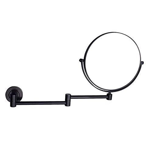 SGSG Productos para el hogar/baño Espejos de Maquillaje montados en la Pared, Espejos de tocador de 8 Pulgadas para baño, Espejos Extensibles Redondos de latón con Lupa