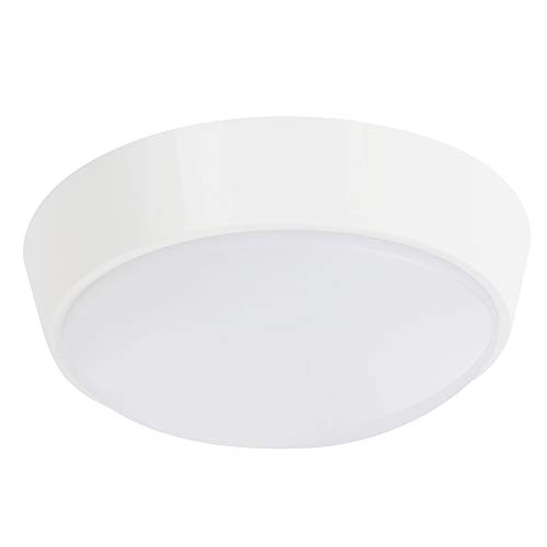 10W LED 4000K IP54 Round Circular Flush Wall Ceiling Mounted Bulkhead Light Fitting for Indoor,Outdoor,Bathroom,Bath,Office,Kitchen,Hallway,Corridor,Utility,Garden,Garage,Shed,Workshop,Porch-White