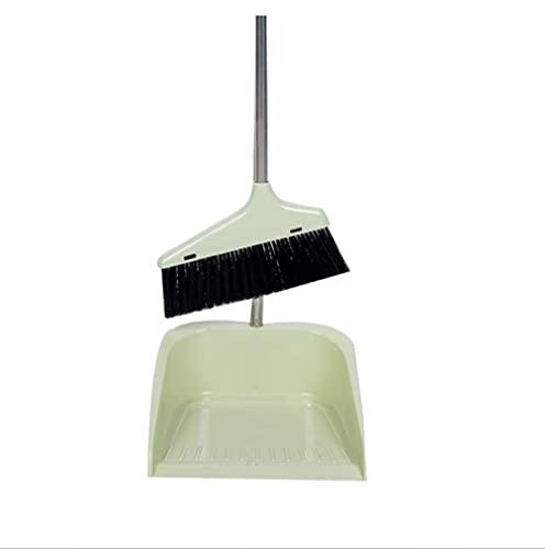 LSAR Cepillo y Recogedor, Escoba y Recogedor Plegable Juego de Escoba, Broom and Dustpan Recogedor de Polvo, 78CM / Cepillo para Limpieza del Hogar-White