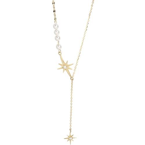 Liangte Kupfer Perlenkette süße Stern Schlüsselbein Kette weibliche einfache Design Schlüsselbein Kette
