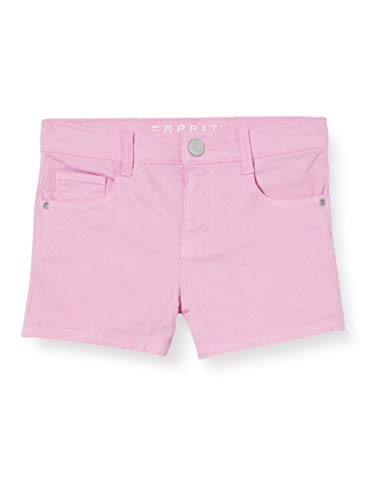 Esprit Rq2501302 Denim Shorts Pantalones Cortos, Rosa (Light Pink 311), 116 para Niñas