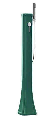Doccia a riscaldamento solare Arkema Happy Go HG140-6016 Nero Doccia solare Realizzata in polietilene HD, resiste a raggi UV, salsedine e calcare Per ambienti marini molto ventosi Capacità 23 litri Peso 9 kg Altezza 120 cm con miscelatore e doccino mobile