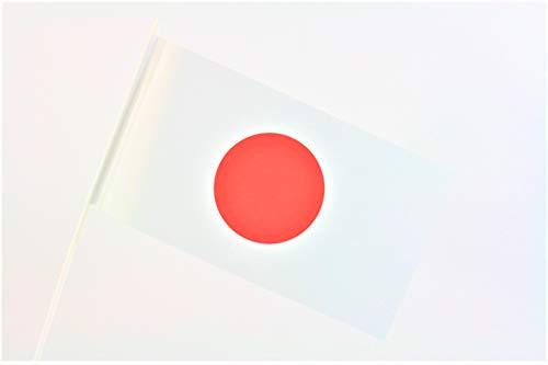 TrendLineMix 20 Stück Japan Fähnchen Fahnen 12 x 24 cm Plastik Stab Papier Asien Staaten