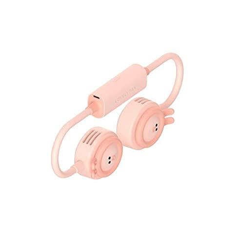 Chenguojian Ventiladores de Cuello Colgante USB, batería Recargable Linda de batería Recargable