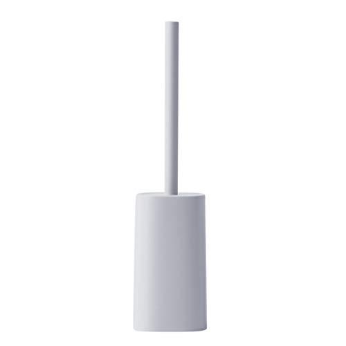 QIFFIY Cepillo de limpieza para inodoro y soporte simple para el hogar, mango largo, sin esquinas muertas, cepillo de limpieza para inodoro de pelo suave para escobilla de inodoro (color gris)