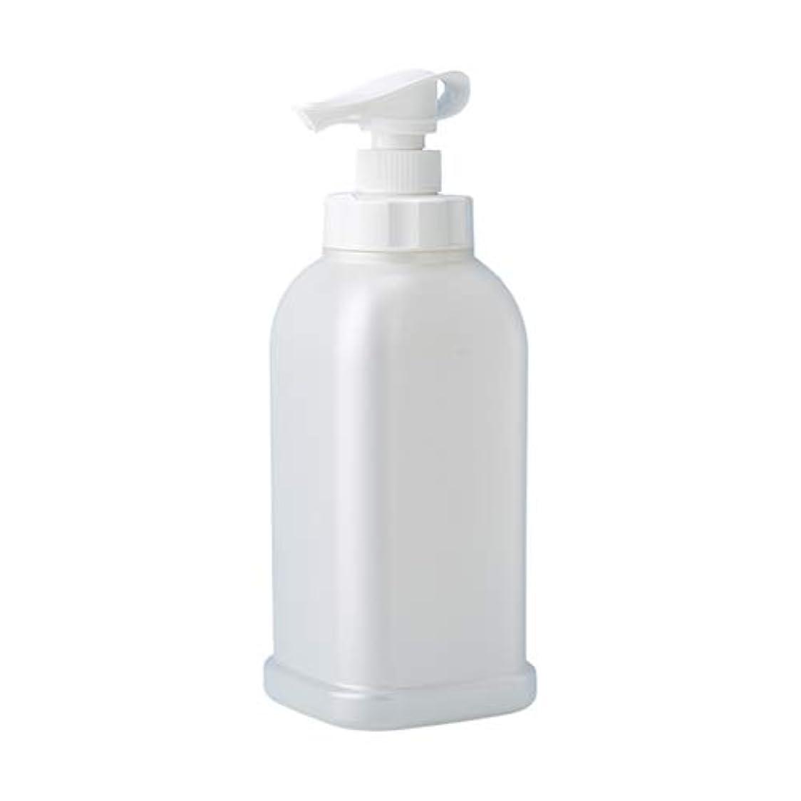 レルム前提条件殺人安定感のある ポンプボトル シャンプー コンディショナー リンス ボディソープ ハンドソープ 1.2L詰め替え容器 パールホワイト