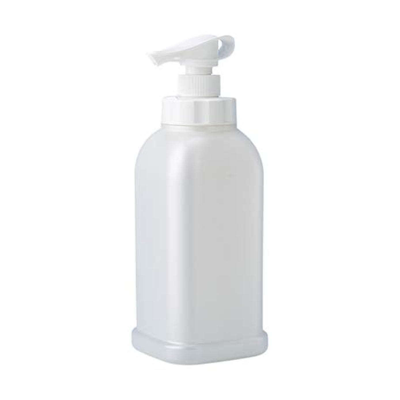シャーク説教ほうき安定感のある ポンプボトル シャンプー コンディショナー リンス ボディソープ ハンドソープ 1.2L詰め替え容器 パールホワイト
