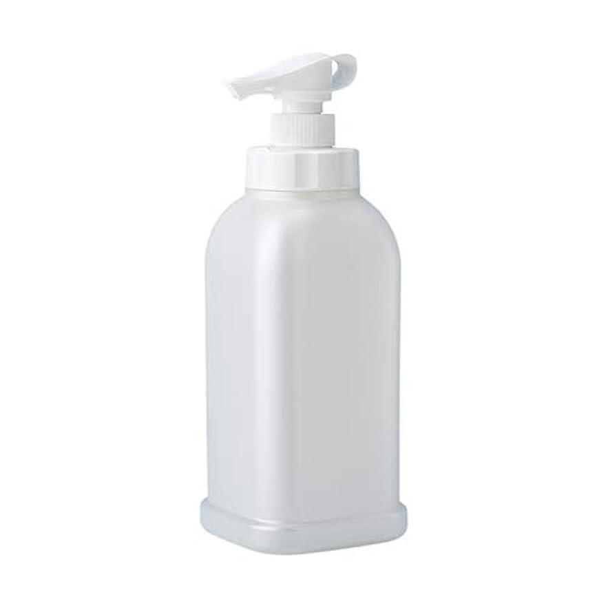 魅了する割り込み放棄された安定感のある ポンプボトル シャンプー コンディショナー リンス ボディソープ ハンドソープ 1.2L詰め替え容器 パールホワイト