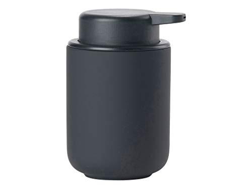 Zone Denmark Ume Seifenspender für Flüssigseife, Steingut mit Soft Touch-Beschichtung, schwarz