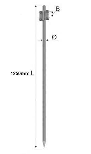 Tiefenerder Erder Erdung Staberder Ø16 1,25m feuerverzinkt nach DIN 50164-2 mit Klemme