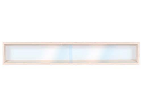 Alsino Vetrina (V70.1) per modellismo Scala H0 e N in Legno di Betulla, con 2 vetri di plexiglas, Dimensioni 70 x 11 x 8,5 cm, vetrinetta, bacheca, espositore, collezionismo