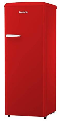 Amica Retro Design VKSR 354 150 R Kühlschrank - Rot, Retro-Design, A++