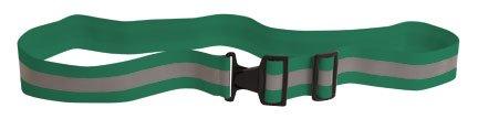Reflective Elastic Belt w/Buckle Closure (Dark Green)