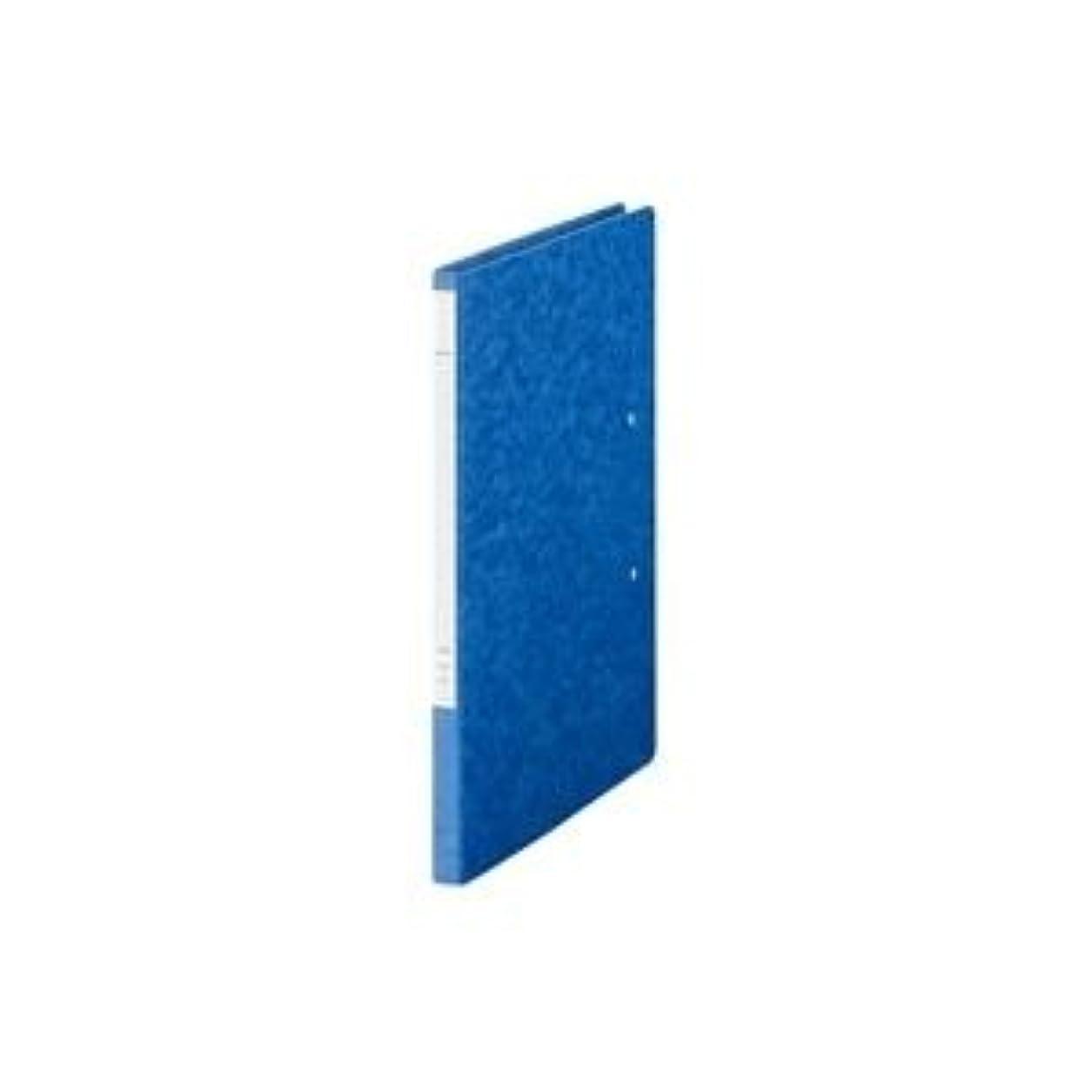 番号おもしろい部(業務用10セット) LIHITLAB パンチレスファイル/Z式ファイル 【A4/A32つ折り】 タテ型 F307-5 藍 [簡易パッケージ品]