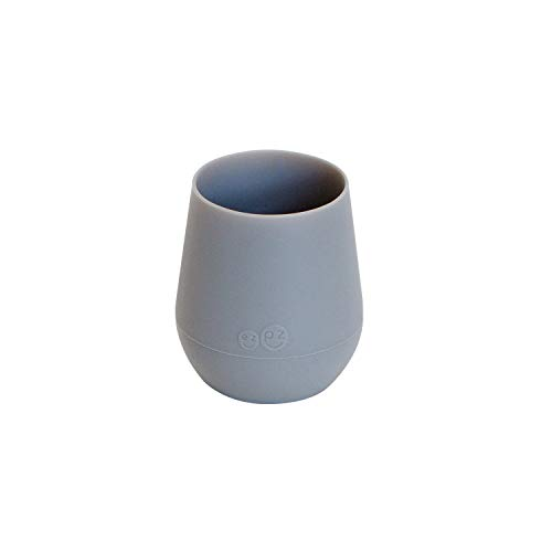 ezpz Tiny Cup - Silicone Infant Feeding Cup (Gray)