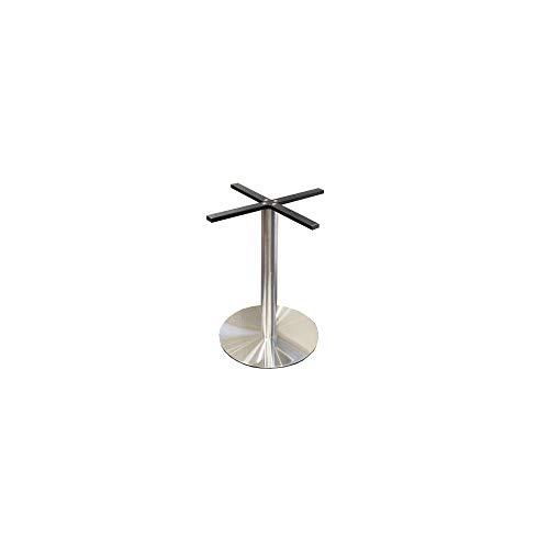 Base de mesa Ø500 mm, H=720 mm, acero inoxidable cepillado,