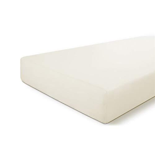 Byrklund Spannbettlaken 80x200, 100% Baumwolle Spannbetttuch, Perfekte Matratzenpassform, Weiches Gefühl, Knitter- & Bügelfrei - Off-White