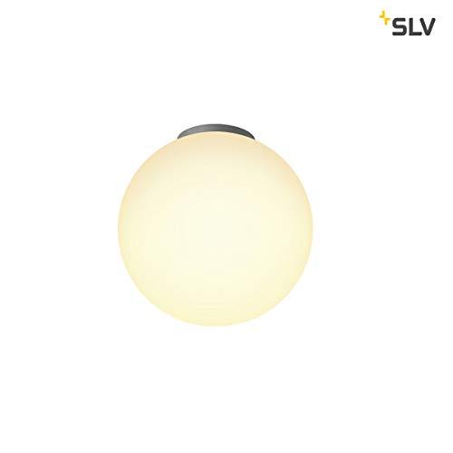 SLV Deckenleuchte Rotoball 25 | Dimmbare LED Zimmerleuchte, Kugelleuchte, Decken-Lampe für Wohnzimmer, Bar, Esszimmer | Runde Innen-Lampe in exklusivem Kugel-Design (E27 Leuchtmittel, A-A++, Ø25cm)
