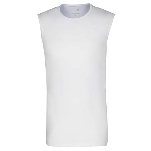 Seidensticker Herren Tank Top T-Shirt Rundhals Ärmellos Uni Unterhemd, Weiß (Weiß 1), XX-Large