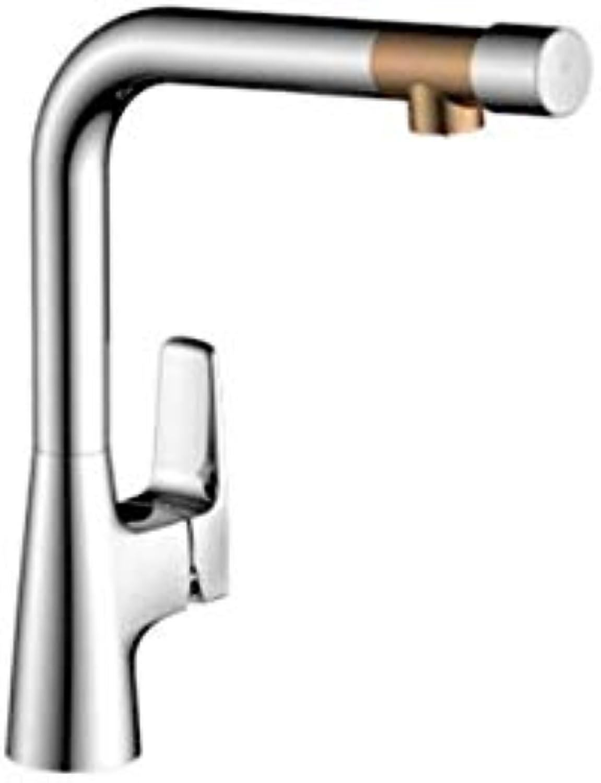 Küche Bad Wasserhahnwasserhhne Mixer Swivel Wasserhahn Sink Clean Water Two-In-One Küchenarmatur Becken Niedriges Blei