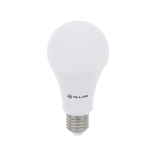 Tellur Bombilla LED WiFi controlable en tu Smartphone, Compatible con Alexa, 10W Equivalente 100W, Blanco/cálido, 1000 lúmenes, luz Ajustable, E27 Wi-Fi