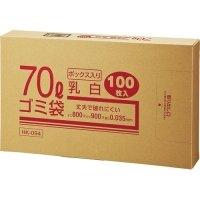 クラフトマン 業務用乳白半透明 メタロセン配合厚手ゴミ袋 70L BOXタイプ 1箱(100枚)