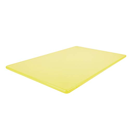 Thirteen Chefs Plástico de Corte Comercial Junta, NSF, hdpp Alta Densidad Poli Amarillo 18 x 12 x 0,5 Pulgadas