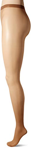 No Nonsense Women's Waist Pantyhose with Sheer Toe, Tan, A