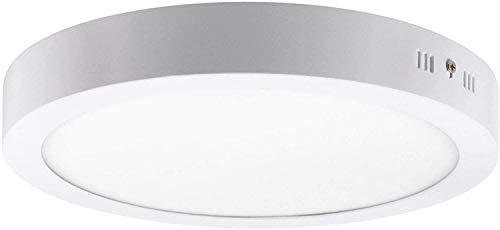FactorLED ¡NOVEDAD! Downlight Panel Superficie LED Circular 20W, Plafón redondo para techo...