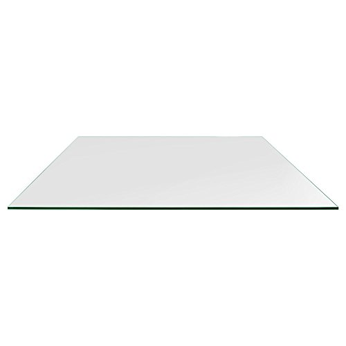 TroySys Rectangle Glass Table Top, 1/4 Inch Thick, Flat Polished Edge, Eased Corners, Tempered, 30' W X 60' L