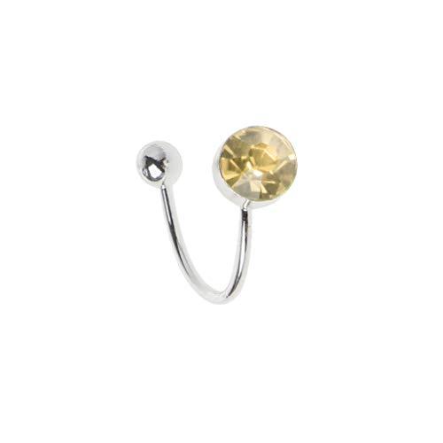 S-TROUBLE CZ Clip de Piedra en el Pendiente Crystal Ear Cuff No Piercing Ear Clip Joyería de Moda