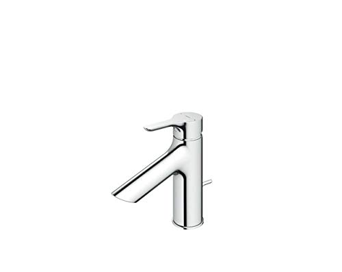 LHK Kitchen Sink Faucet Basin Mixer Tap Bathroom Faucets with US Standard Fitting Single Handle Brass Constructed Swivel Spout Toto Single Hole Single Handle Hot and Cold Water Faucet for Washbasin