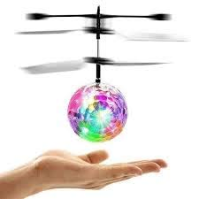 Fillia Crystal Flying Ball Kids Toys Flying Toys for Kids Hand Control LED Disco Rainbow Lights RC Flying Drone Toys for Boys Girls Birthday Indoor Outdoor Rechargeable RC