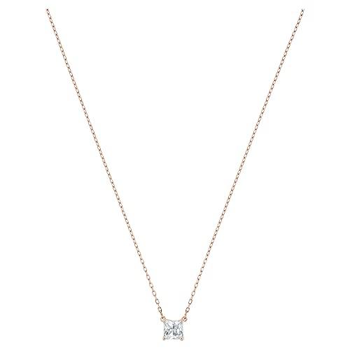 Swarovski Collar Attract, blanco, Baño en tono Oro Rosa