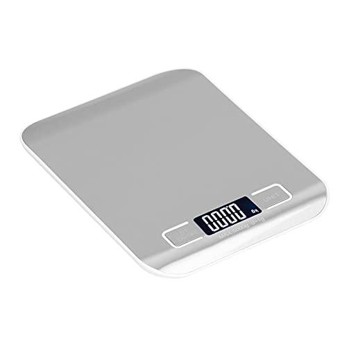 Básculas digitales de cocina, báscula electrónica de cocina con un peso máximo de 5 kg, diseño de gradiente de arco para el hogar