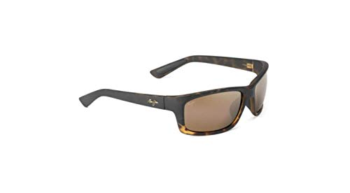 Maui Jim Männer Kanaio Coast Sonnenbrille w/Polarized Bronze Objektiv MJ766-10MF Matte Schildkröte Ombre groß