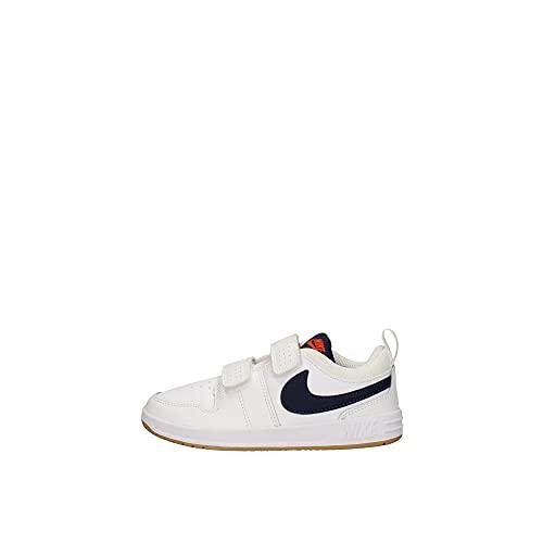 Nike Pico 5, Zapatillas Deportivas, White Midnight Navy Orange, 33 EU