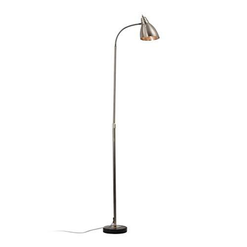 ZGP-LED Luces de piso Lámpara de pie nórdica vertical de acero inoxidable de la sala de lectura dormitorio Estudio de Protección de ojos Piano lámpara de mesa moderna minimalista Nivel de energía [A +
