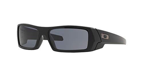 Oakley GASCAN OO9014 Sunglasses For Men + Accessories Bundle (Matte Black/Grey (03-473), 61)