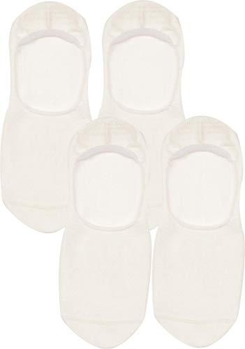 RS. Harmony | Füßlinge | Sommer Baumwolle ohne Druck ABS Innen | 4 Paar | weiß | 39-42