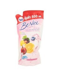 Be Nice : Beautiful Whitening Shower Cream Fruit Mixture & Whitening Complex 500 ml. (Refill) Best Seller of Thailand... ( by gole )best sellers