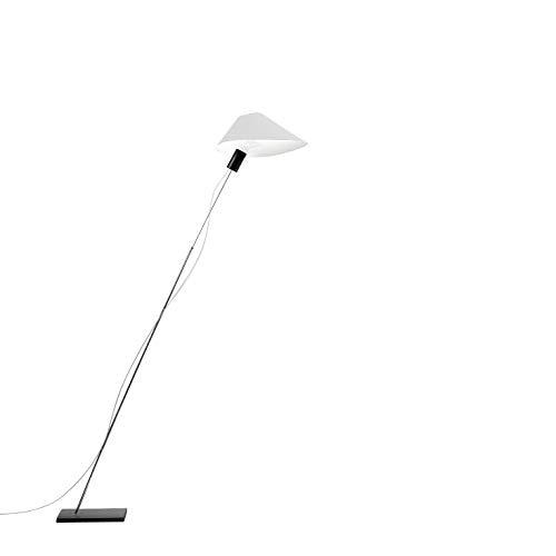 Gladzkop staande lamp