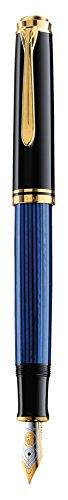 ペリカン 万年筆 F 細字 ブルー縞 スーベレーン M400 正規輸入品